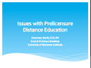 Watch Issues with Prelicensure Distance Education Video