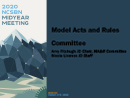 Watch Model Acts and Rules Committee Forum Video